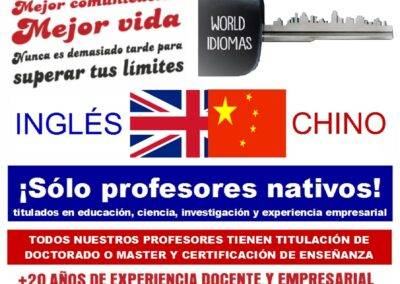 clases ingles y chino Aranjuez