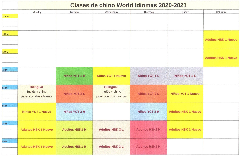 clases de chino Aranjuez